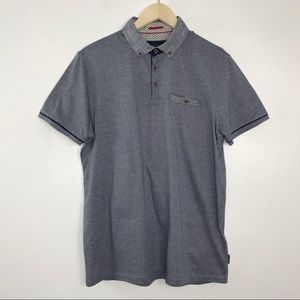 Ted Baker London Trynor Polo Shirt Blue Large 4